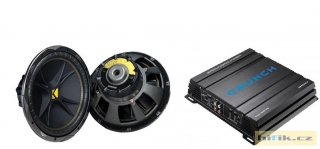 Set subwoofer Kicker C154 + zesilovač Crunch GPX600.2